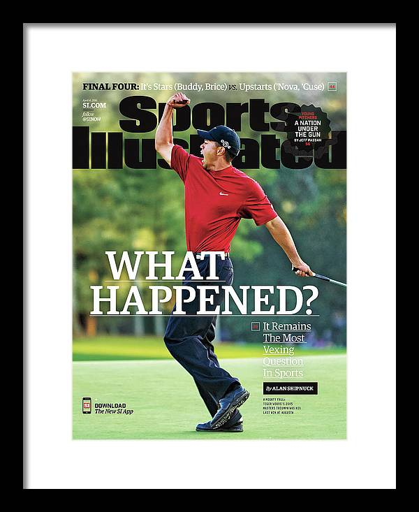 Magazine Cover Framed Print featuring the photograph What Happened It Remains The Most Vexing Question In Sports Sports Illustrated Cover by Sports Illustrated