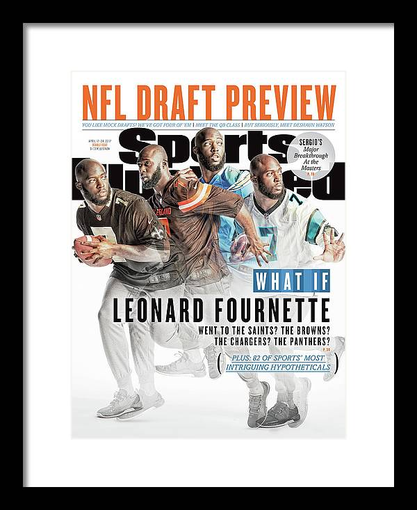 Magazine Cover Framed Print featuring the photograph What If Leonard Fournette Went To The Saints The Browns The Sports Illustrated Cover by Sports Illustrated