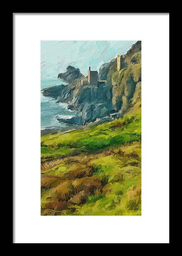 Ipad Framed Print featuring the digital art Wheal Bottallack by Scott Waters