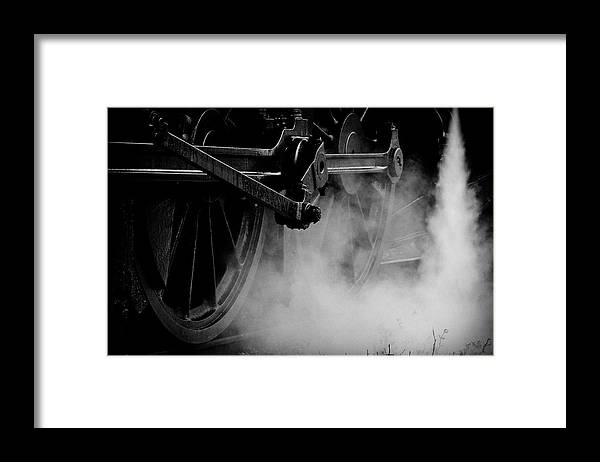 Vehicle Part Framed Print featuring the photograph Wheels State Railway Of Thailand Srt by Nobythai