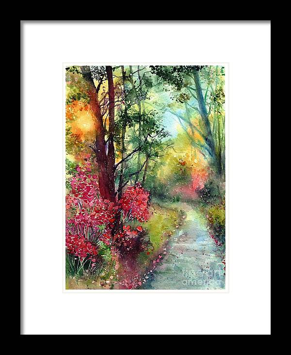 Nature Framed Print featuring the painting Where Do We Go by Suzann Sines