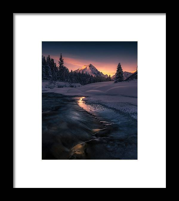 Canadian Framed Print featuring the photograph Where The Light Guides You by Simon Roppel