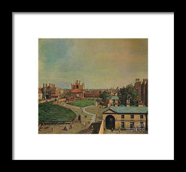 Oil Painting Framed Print featuring the drawing Whitehall From Richmond House by Print Collector