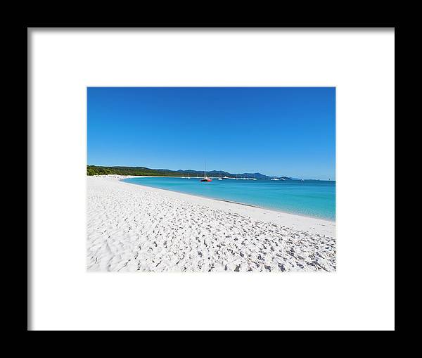 Clear Sky Framed Print featuring the photograph Whitehaven Beach On Whitsunday Island by Holgs