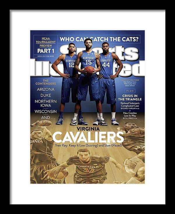 Magazine Cover Framed Print featuring the photograph Who Can Catch The Cats Virginia Cavaliers, Their Key Keep Sports Illustrated Cover by Sports Illustrated