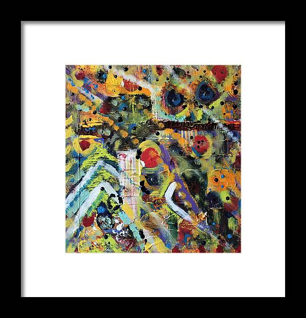 Nature Framed Print featuring the painting Who What Where by Pam Roth O'Mara