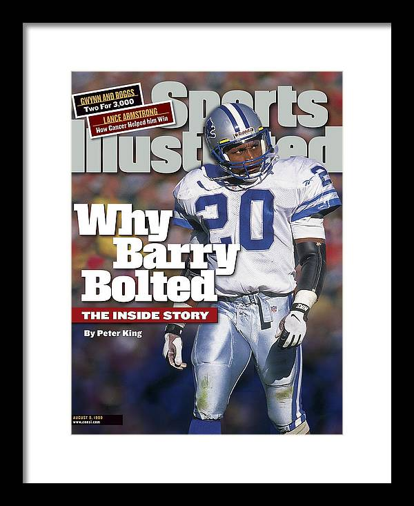 Green Bay Framed Print featuring the photograph Why Barry Bolted The Inside Story Sports Illustrated Cover by Sports Illustrated