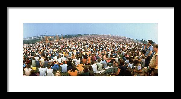 Timeincown Framed Print featuring the photograph Wide-angle Pic Of Seated Crowd Listening by John Dominis