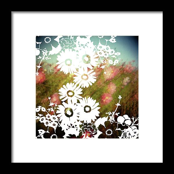Outdoors Framed Print featuring the digital art Wild Flowers by Jenene Chesbrough
