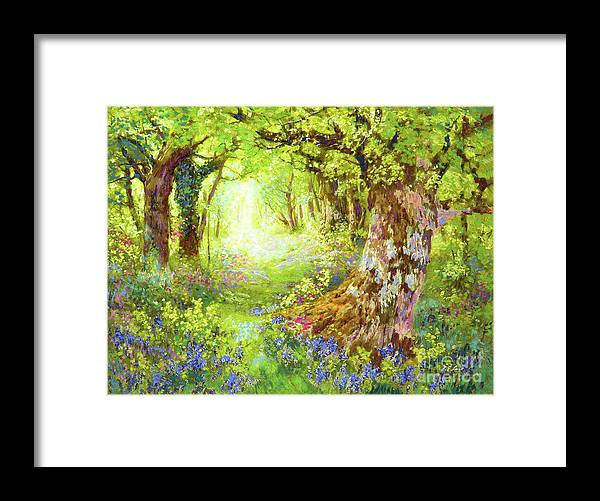 Floral Framed Print featuring the painting Wildflower Delight by Jane Small