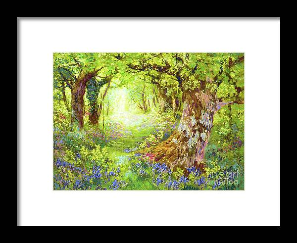 Sun Framed Print featuring the painting Wildflower Delight by Jane Small