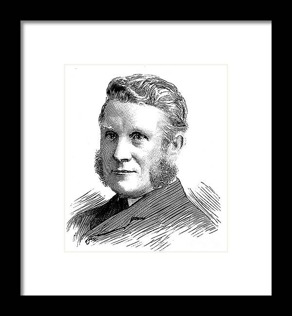 Civil Engineering Framed Print featuring the drawing William Arrol 1830-1913, Scottish Civil by Print Collector