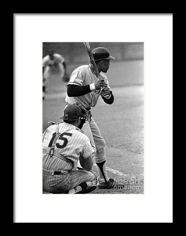 Queens Framed Print featuring the photograph Willie Mays Of The San Francisco Giants by Mitchell Reibel