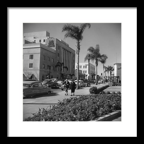 1950-1959 Framed Print featuring the photograph Wilshire Boulevard by Slim Aarons