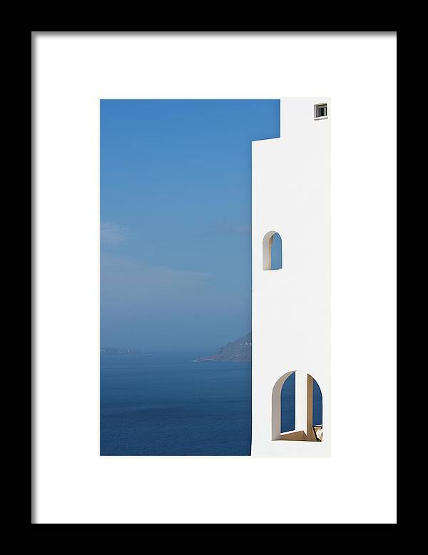 Greece Framed Print featuring the photograph Windows To The Blue by Arturbo