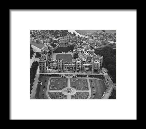 People Framed Print featuring the photograph Windsor Castle by Central Press