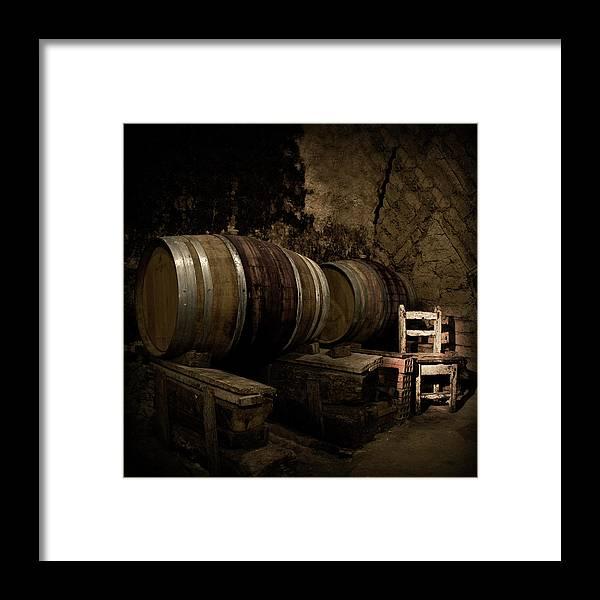 Fermenting Framed Print featuring the photograph Wine Cellar by Fotografias De Rodolfo Velasco