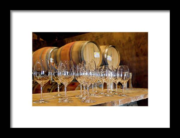 Alcohol Framed Print featuring the photograph Wine Tasting Room by Creativeye99