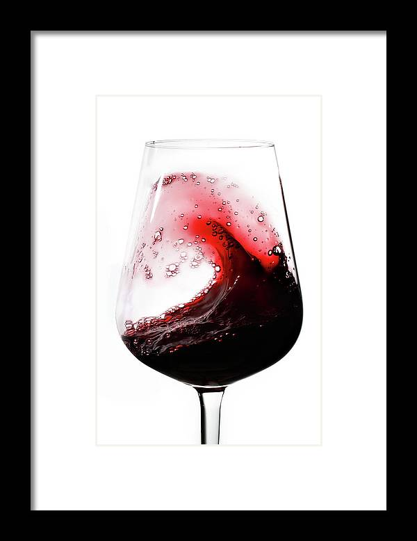 Curve Framed Print featuring the photograph Wine Waves by Seraficus