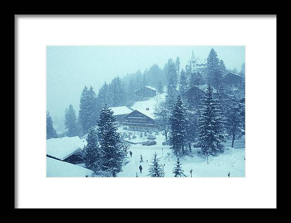 Gstaad Framed Print featuring the photograph Winter In Gstaad by Slim Aarons