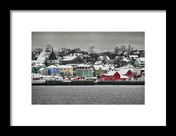 Snow Framed Print featuring the photograph Winter In Lunenburg by Amanda White