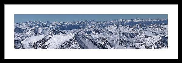 Tranquility Framed Print featuring the photograph Winter In The Rockies From Mt. Massive by Photo By Matt Payne Of Durango, Colorado