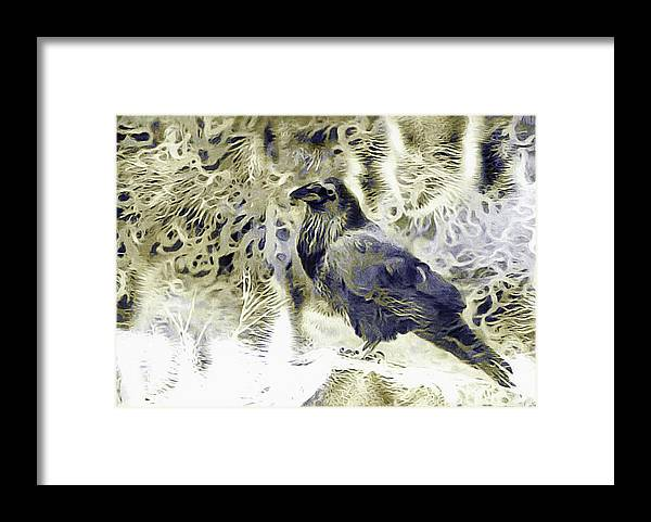 Winter Is Coming Framed Print featuring the mixed media Winter Is Coming by Susan Maxwell Schmidt