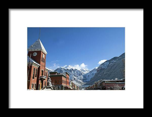 Scenics Framed Print featuring the photograph Winter Telluride Colorado by Dougberry
