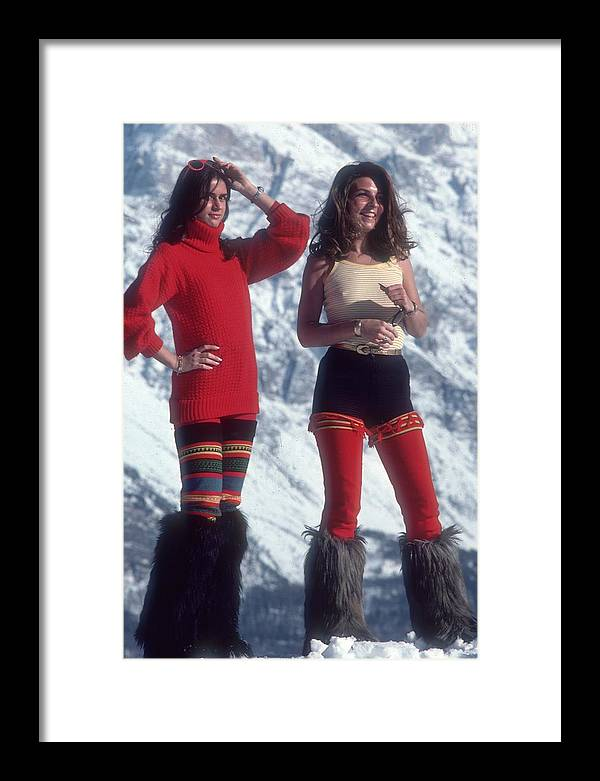 People Framed Print featuring the photograph Winter Wear by Slim Aarons