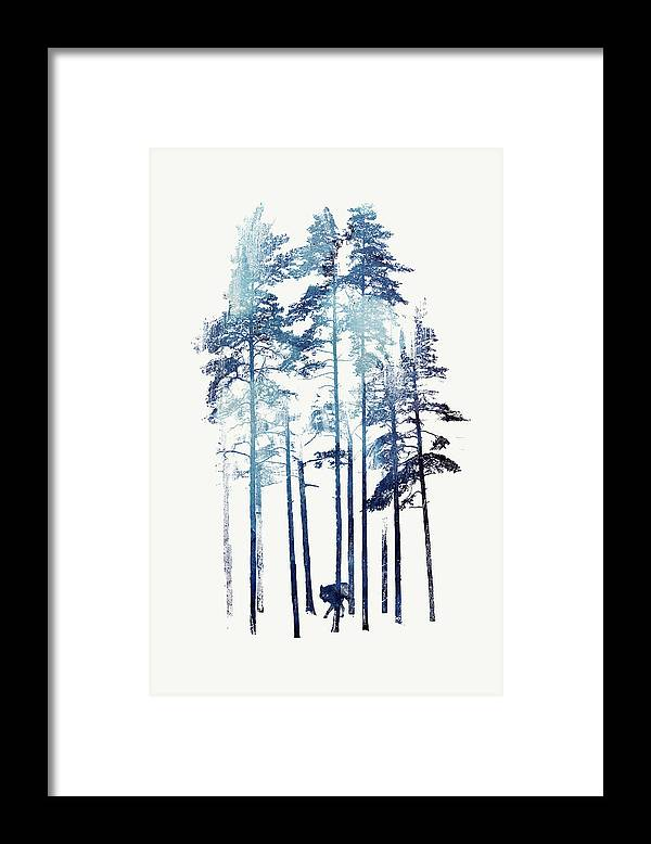Wilderness Framed Print featuring the painting Winter Wolf by Robert Farkas