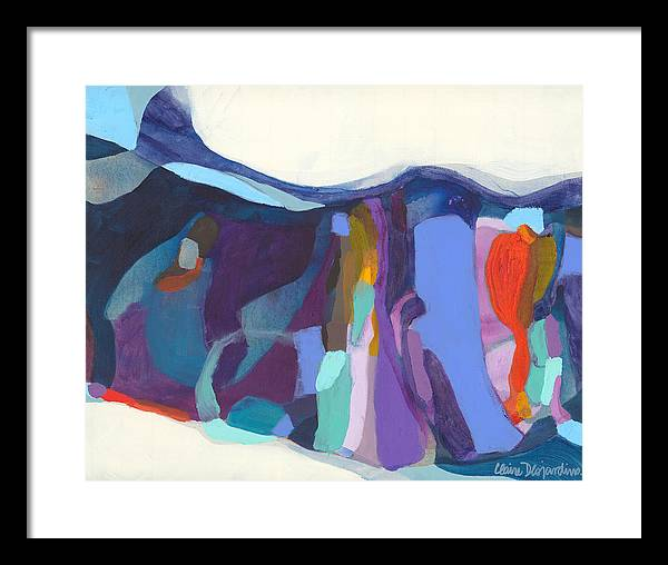 Abstract Framed Print featuring the painting With Grace by Claire Desjardins