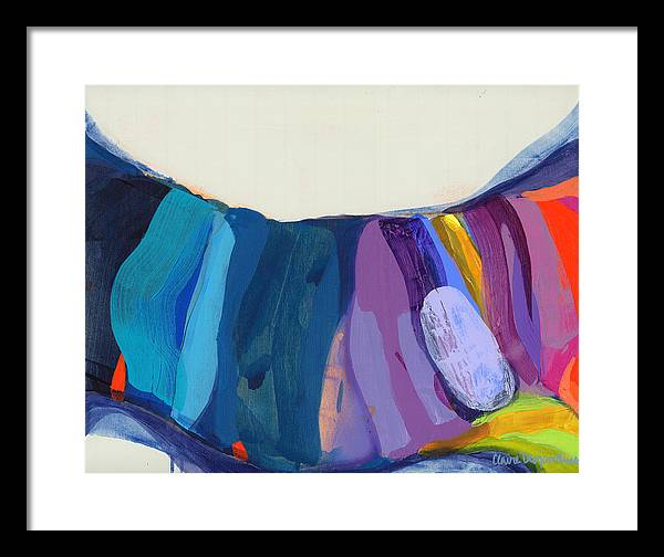 Abstract Framed Print featuring the painting With Joy by Claire Desjardins