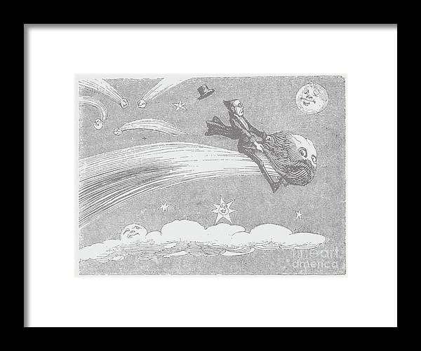 Art Framed Print featuring the photograph Woodcut Illustration Of A Space by Bettmann