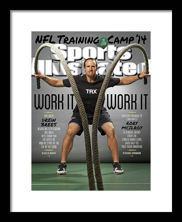 Magazine Cover Framed Print featuring the photograph Work It, Work It 2014 Nfl Training Camp Sports Illustrated Cover by Sports Illustrated