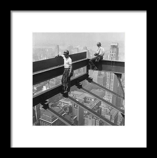 Working Framed Print featuring the photograph Working In The Sky by Keystone