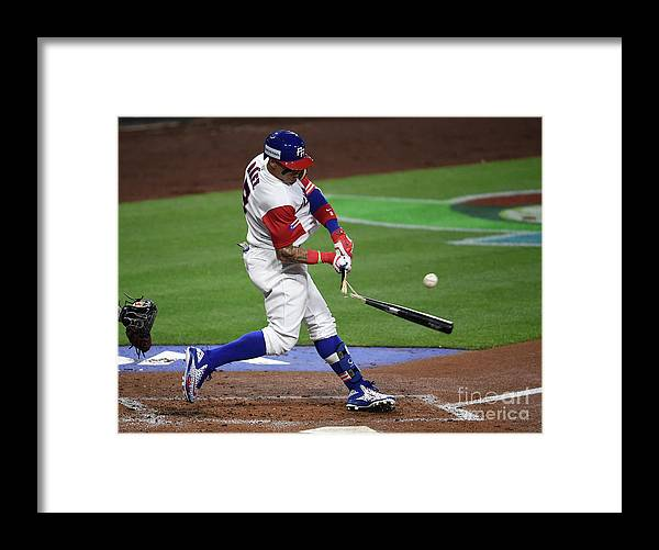 People Framed Print featuring the photograph World Baseball Classic - Pool F - Game by Denis Poroy
