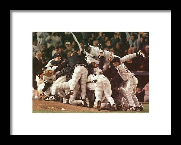 Celebration Framed Print featuring the photograph World Series 6 Yankees by Al Bello