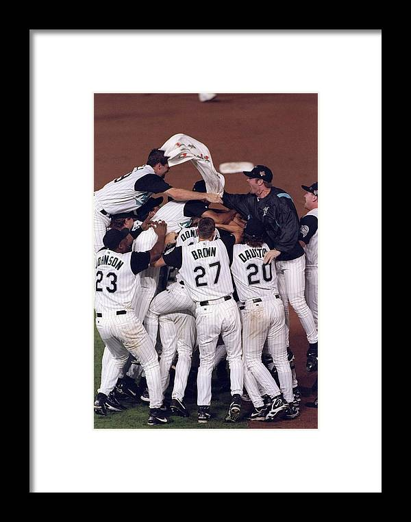 Celebration Framed Print featuring the photograph World Series by Brian Bahr