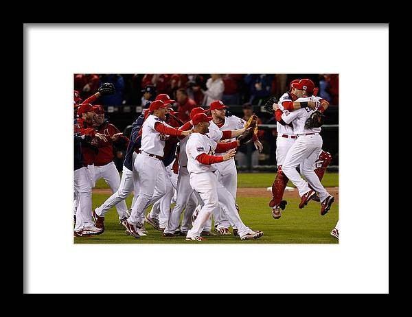 St. Louis Cardinals Framed Print featuring the photograph World Series Game 5 Detroit Tigers V by Dilip Vishwanat