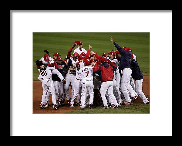 St. Louis Cardinals Framed Print featuring the photograph World Series Game 5 Detroit Tigers V by Elsa