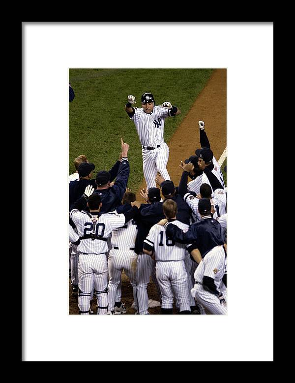 Celebration Framed Print featuring the photograph World Series Gm4 X by Ezra Shaw