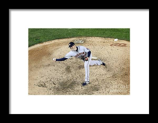 American League Baseball Framed Print featuring the photograph World Series - Houston Astros V by Will Newton