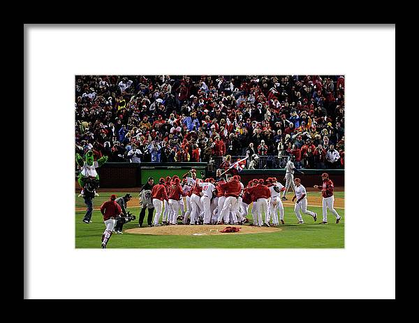Celebration Framed Print featuring the photograph World Series Tampa Bay Rays V by Jeff Zelevansky