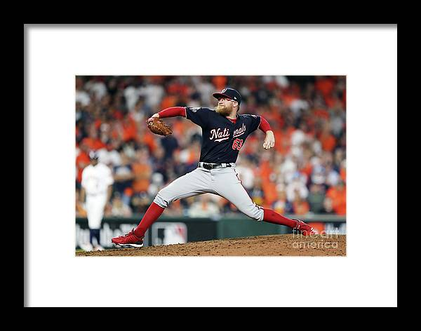 American League Baseball Framed Print featuring the photograph World Series - Washington Nationals V by Elsa