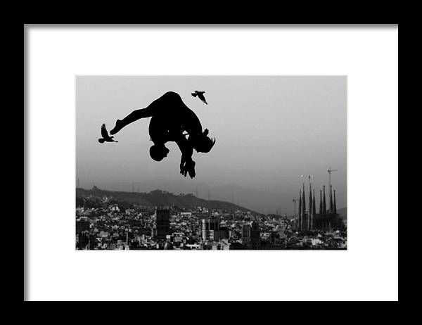 Piscina Municipal De Montjuic Framed Print featuring the photograph World Swimming Championships Barcelona by Adam Pretty