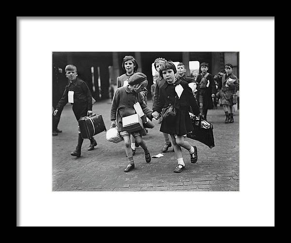 Child Framed Print featuring the photograph World War II, 11th June 1944, London by Popperfoto