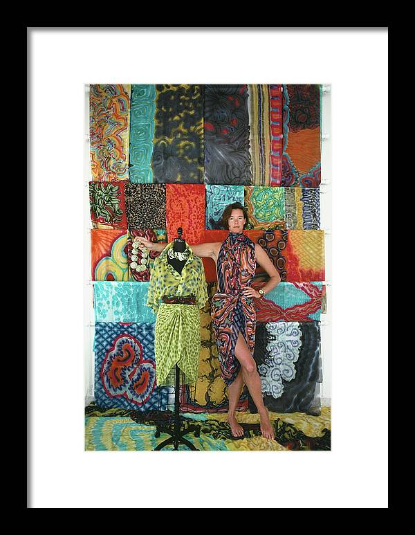 Saint Barthelemy Framed Print featuring the photograph Wrap Dresses by Slim Aarons