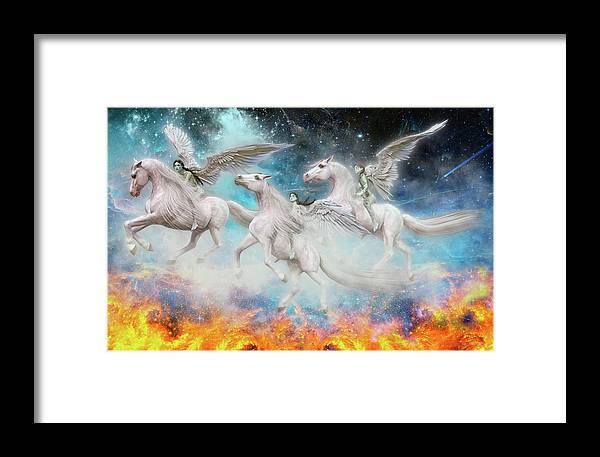 Angel Framed Print featuring the digital art Wrinkles In Time by Betsy Knapp
