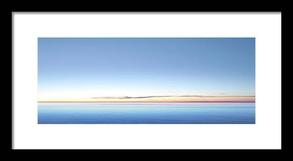 Lake Michigan Framed Print featuring the photograph Xxl Serene Twilight Lake by Sharply done