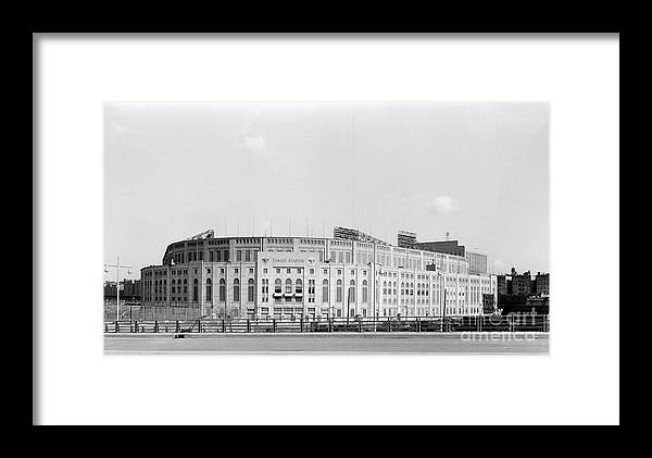 American League Baseball Framed Print featuring the photograph Yankee Stadium by Olen Collection